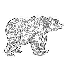 Bear coloring book vector