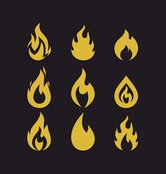 Big set flames vector