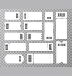 big set ticket templates concert ticket coupon vector image