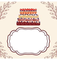 Birthday greetings invitation template vector image