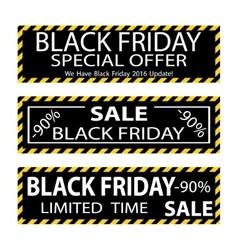 Black friday sale banner design vector image