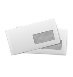 Blank envelopes with window on white background vector image