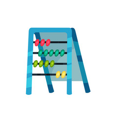 cartoon icon of abacus educational counting game vector image