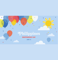 Celebrate banner independence day vector