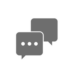Chat sms comments speech bubbles grey icon vector