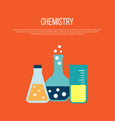 chemistry science and education concept vector image