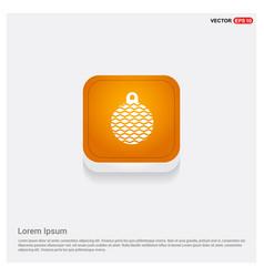christmas ball icon orange abstract web button vector image