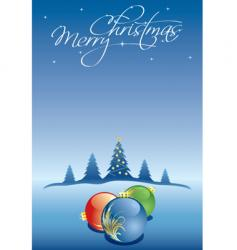Christmas winter card vector image