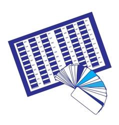 Color palette icon vector image