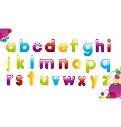 Colorful alphabet over white background vector