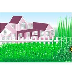 Country house garden vector