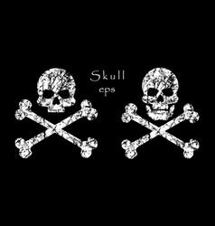 crossbones skull death warning danger or poison vector image