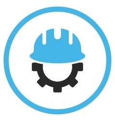 Development Hardhat Flat Icon vector image