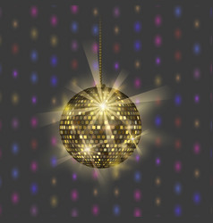 Disco ball discotheque music party night club vector
