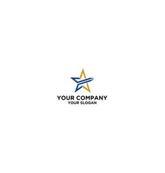 e star logo design tempalte vector image