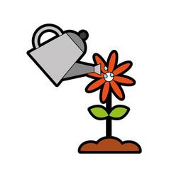 Farming sprinkler with flower vector