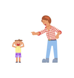 Father shouting at child vector