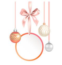festive balls set-04 vector image