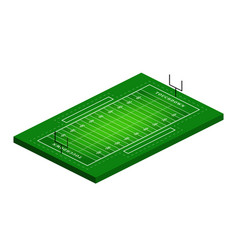 flat isometric view american football field vector image