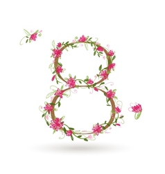 Floral number eight for your design vector image