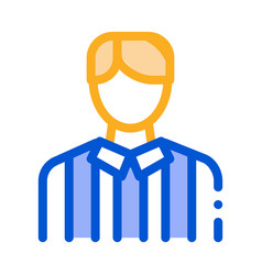 football arbitrator icon outline vector image