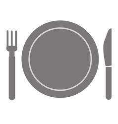 fork and knife menu vector image