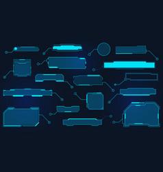 futuristic callout titles virtual sci fi textbox vector image