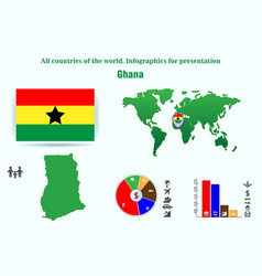 ghana all countries of the world infographics for vector image