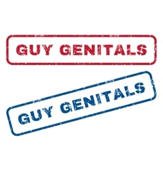 Guy Genitals Rubber Stamps vector