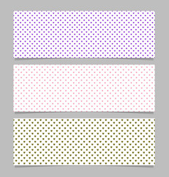 Halftone heart pattern banner template background vector
