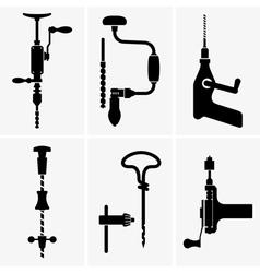 Hand drill vector