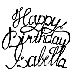 Happy birthday Isabella vector image