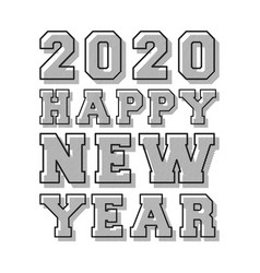 happy new year 2020 background line stamp design vector image