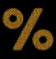 Hexagon halftone percent icon vector