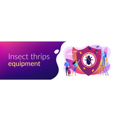 Home pest insects control concept banner header vector