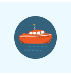 Icon with colored boat vector