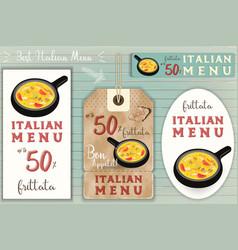 Italian ravioli stickers set vector