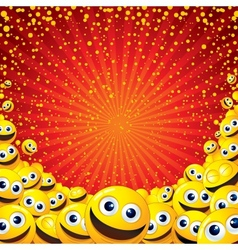 Joyful smiley background image with free space vector