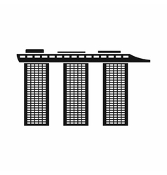 Marina bay sands hotel singapore icon vector
