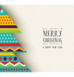 Merry Christmas and new year fun tree design vector