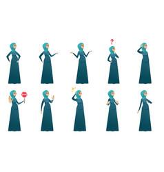 muslim pregnant woman set vector image