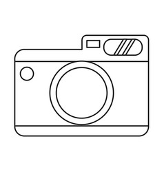 Photo camera picture travel thin line vector