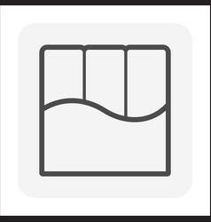 Pre-stress concrete slab icon design vector