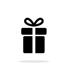 Present icon on white background vector image
