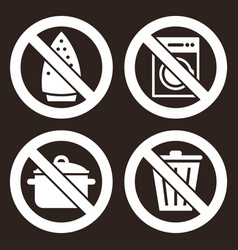 prohibited sign set vector image