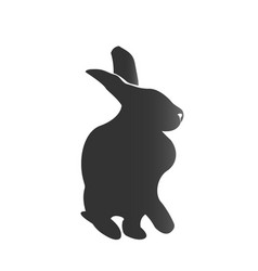rabbit silhouette design icon vector image