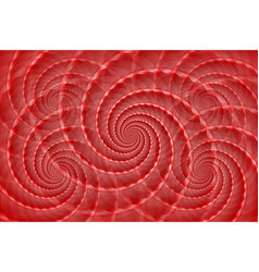 Red twisted and ribbed spiral objects on vector