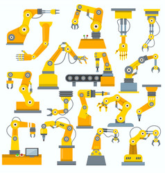 robot arm robotic machine hand indusrial vector image