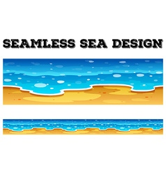 Seamless background design with blue ocean vector image