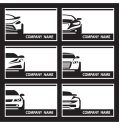 Set of car labels vector